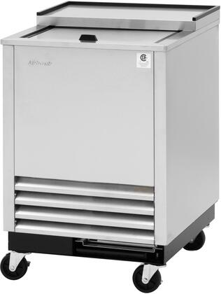 Turbo Air Super Deluxe TBC24SDGFN6 Glass Chiller and Froster Stainless Steel, TBC24SDGFN6 Angled View