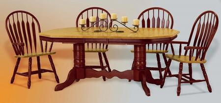 Sunset Trading Sunset Oak Selections DLUTCP42844130ANLO5PC Dining Room Set Multi Colored, Main Image