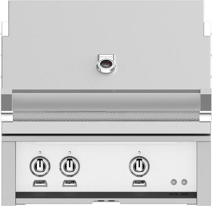 Hestan GSBR30LPWH Liquid Propane Grill White, Front View