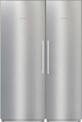 Miele  1330576 Column Refrigerator & Freezer Set Stainless Steel, 1
