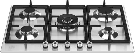 """Bertazzoni Professional PROF305CTXV Gas Cooktop Stainless Steel, PROF305CTXV 30"""" Front Control Gas Cooktop"""