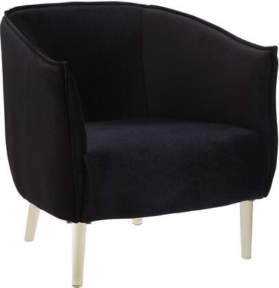 Furniture of America Donostia CMAC6348BK Accent Chair Black, Main Image