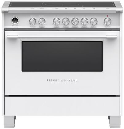 Fisher Paykel Classic OR36SCI6W1 Freestanding Electric Range White, OR36SCI6W1 Classic Induction Range