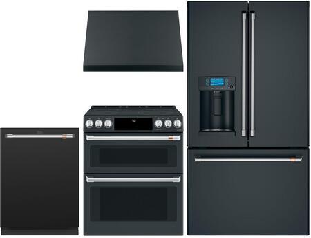 Cafe  1064194 Kitchen Appliance Package Matte Black, Main image