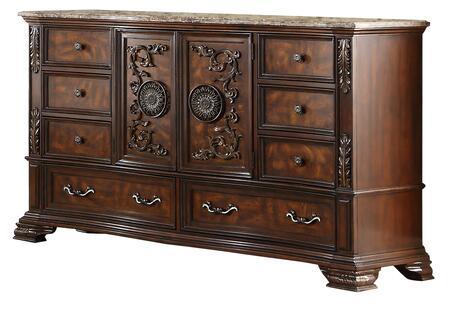 Cosmos Furniture Santa Monica 1073CHSMC Dresser Brown, DL 41d81921e7a4248eef725727bdb3