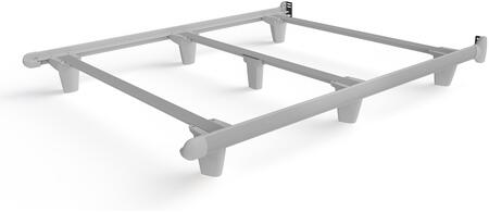 EmBrace 2160-1 Queen Size Bed Frame With Contoured Side Rails  7 Tapered Legs  Flex-Free Support  Steel Metal Construction And No-Tool Assembly In