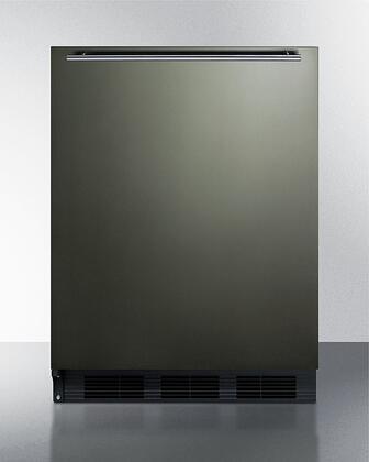 Summit  CT663BKBIKSHHLHD Compact Refrigerator Black Stainless Steel, CT663BKBIKSHHLHD Compact Refrigerator