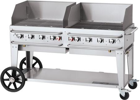 Crown Verity Pro Series CVRCB60WGPSI50100 Commercial Outdoor Grill Stainless Steel, CVRCB60WGPSI50100 Side View