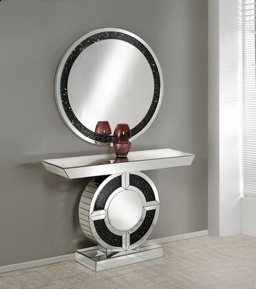 Acme Furniture Noor 90236SET Console Black, Console Table and Mirror