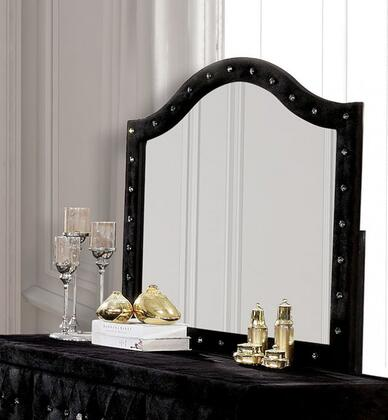 Furniture of America Alzire CM7150BKM Mirror Black, CM7150BK-M