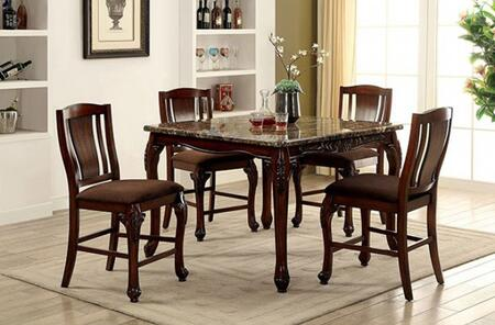 Furniture of America Johannesburg CM3873PT4SC Dining Room Set Multi Colored, main image