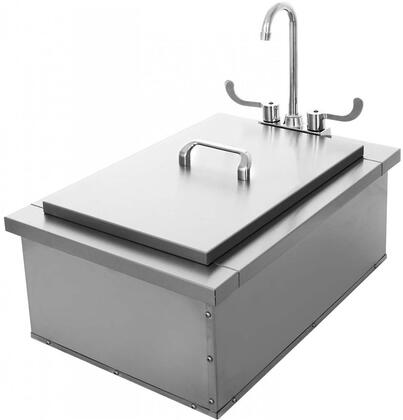 HTX-SINK-15X24 15″ x 24″ Bar Sink Station with Faucet in Stainless
