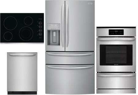 Frigidaire  1010190 Kitchen Appliance Package Stainless Steel, main image