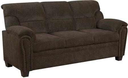 Coaster Clemintine 506571 Stationary Sofa Brown, Main Image
