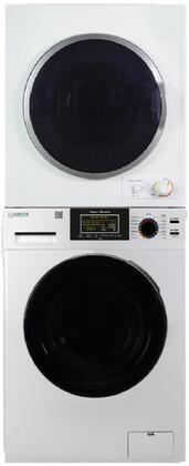 Equator  EW835ED850 Washer & Dryer Set White, EW 835 + ED 850 Stacked Laundry