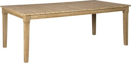 Signature Design by Ashley Clare View P801625 Outdoor Patio Table Brown, Main Image
