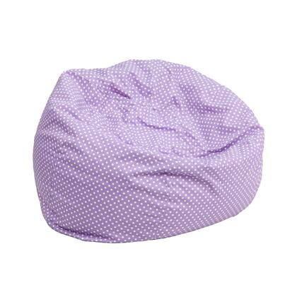 Flash Furniture DGBEAN DGBEANSMALLDOTPURGG Bean Bag Chair Purple, DGBEANSMALLDOTPURGG
