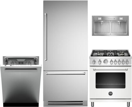 Bertazzoni  1000168 Kitchen Appliance Package Stainless Steel, main image