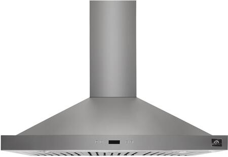 FRHWM5084-36 36″ Siena Chimney Style Wall Mounted Range Hood with 450 CFM  4 Speeds  LED lighting and Baffle Filters in Stainless