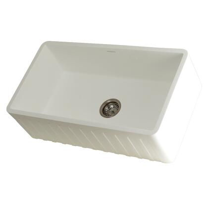 Kingston Brass Arcticstone GKFA331810CD Sink White, Main Image