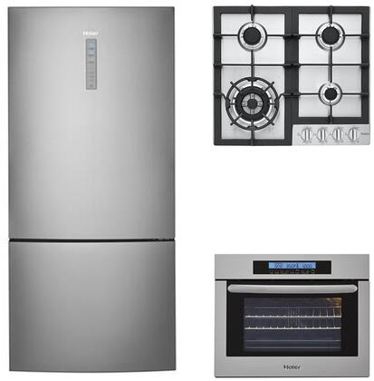 Haier 892989 4 piece Stainless Steel Kitchen Appliances Package
