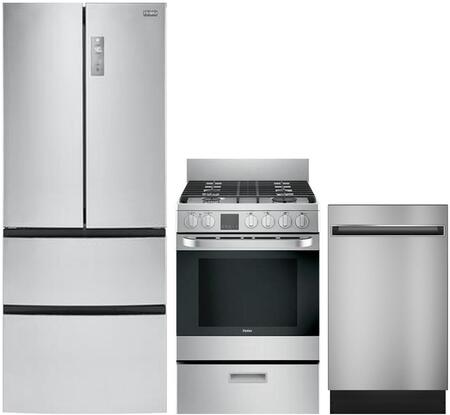 Haier 892132 Kitchen Appliance Package & Bundle Stainless Steel, main image