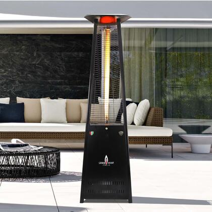 AL8MGBL LAVALITE 92.5″ Triangle Glass Tube Outdoor Heater with  56 000 BTU  Electronic Ignition  in Hammered Black  Natural Gas –