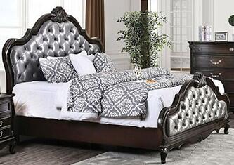 Furniture of America Bethesda CM7426XBED Bed Brown, 1