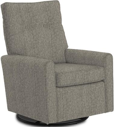 Phylicia Collection 4007-21953B Recliner with 360-Degrees Swivel Glider Metal Base  Removable Back  High Backrest  Zipper Access and Fabric