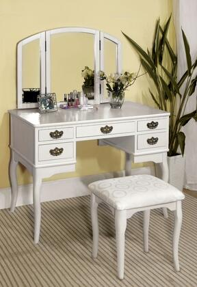 Furniture of America Ashland CMDK6405WH Vanity White, CM-DK6405WH lifestyle