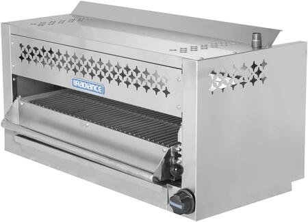TASM-24 24″ Salamander Broiler with 25 000 BTU Output  Stainless Steel Spring Balanced Grid  Removable Grease Pan and Adjustable Gas Valve in