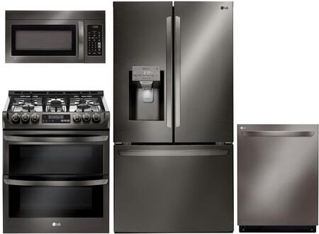 LG 1118822 Kitchen Appliance Package & Bundle Black Stainless Steel, main image