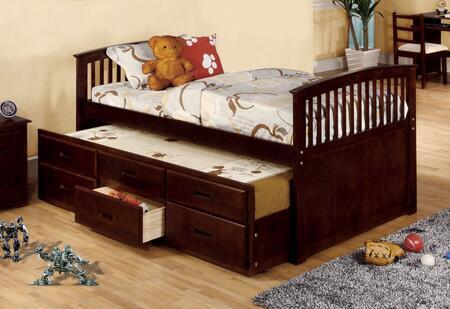 Furniture of America Bella II CM7035CHXBED Bed Brown, 1