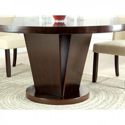 Furniture of America Cimma CM3556TTABLE Dining Room Table Brown, Table Only