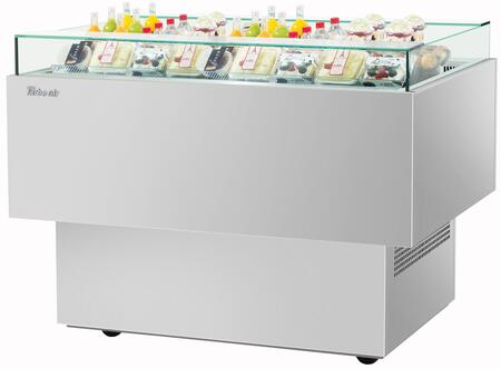 Turbo Air TOS50PNS Display and Merchandising Refrigerator Stainless Steel, TOS50PNS Angled View