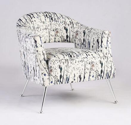 Chintaly 2069ACC Accent Chair White, Main Image