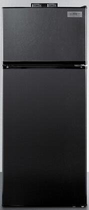 Summit  BKRF1119B Top Freezer Refrigerator Black, Main Image