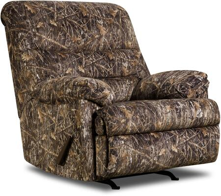 "U683-19 Conceal Brown Conceal 43"""" Camo Rocker Recliner with Fabric Upholstery  Plush Padded Arms and Split Back Cushion in -  Lane Furniture, U68319CONCEALBROWN"