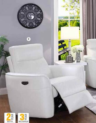 Coaster Cecelia 650216PP Recliner Chair White, Main Image