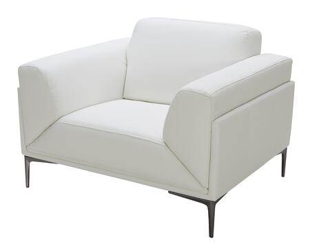 J and M Furniture Davis 18248C Living Room Chair White, Main Image
