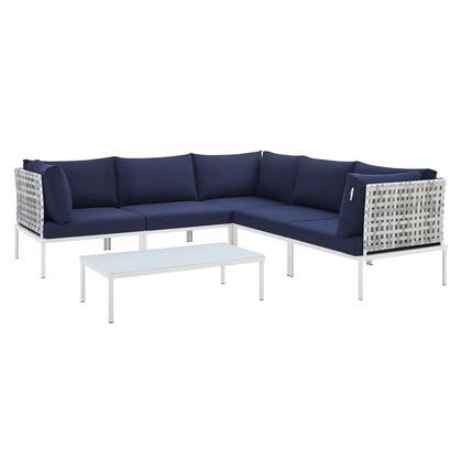 Modway Harmony EEI4926TAUNAVSET Sectional Sofa Blue, EEI 4926 TAU NAV SET 1
