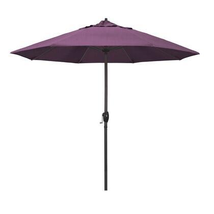 Casa Collection ATA908117-57002 9′ Patio Umbrella With Bronze Aluminum Pole Aluminum Ribs Auto Tilt Crank Lift With Sunbrella 2A Iris