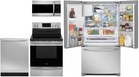 Frigidaire  851466 Kitchen Appliance Package Stainless Steel, main image