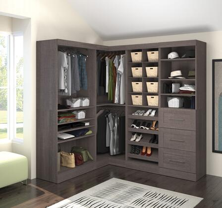 Bestar Furniture 2685447 Wardrobe, bestar pur murphy bed bark grey 26854 47 room