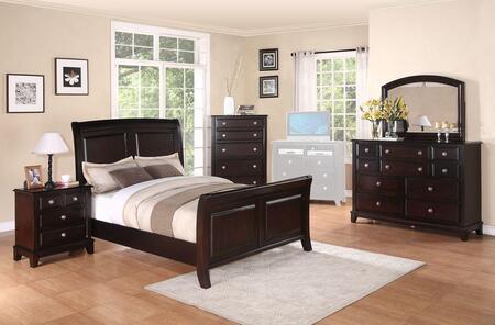 Glory Furniture Ashford G9800AFBDMNCMC Bedroom Set Brown, Main View