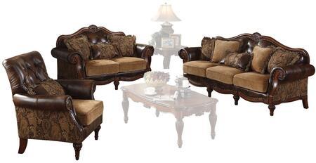 Acme Furniture Dreena 05495SLC Living Room Set Brown, Living Room Set