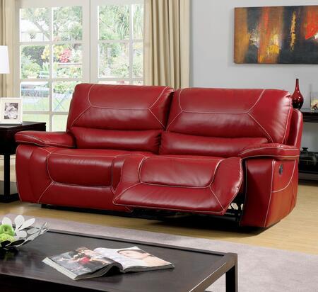Furniture of America Newburg CM6814RDSF Motion Sofa Red, Main Image