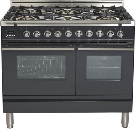 Ilve Professional Plus UPDW1006DMPMLP Freestanding Dual Fuel Range Graphite, UPDW1006DMPM Dual Oven Range