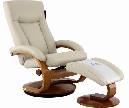 Hamilton Collection HAMILTON054097 Recliner and Ottoman with Swivel Base  Memory Foam Seating  Adjustable Headrest and Quality Breathable Air Leather