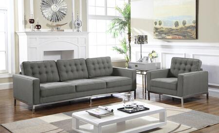 Chic Home Olson FSA2935ACSET Living Room Set Gray, Living Room Set